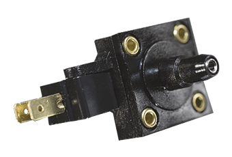 Fotocollage der Druckschalter PSF 109S Serie - Designflex - HJK Sensoren & Systeme